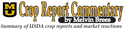 Crop Report Commentary by Melvin Brees